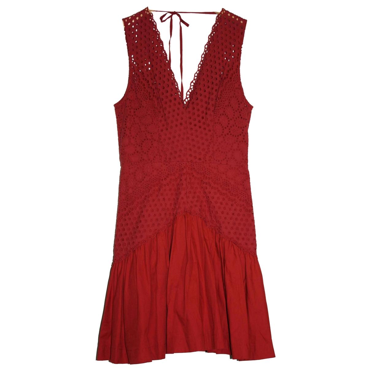 Lover \N Kleid in  Rot Baumwolle