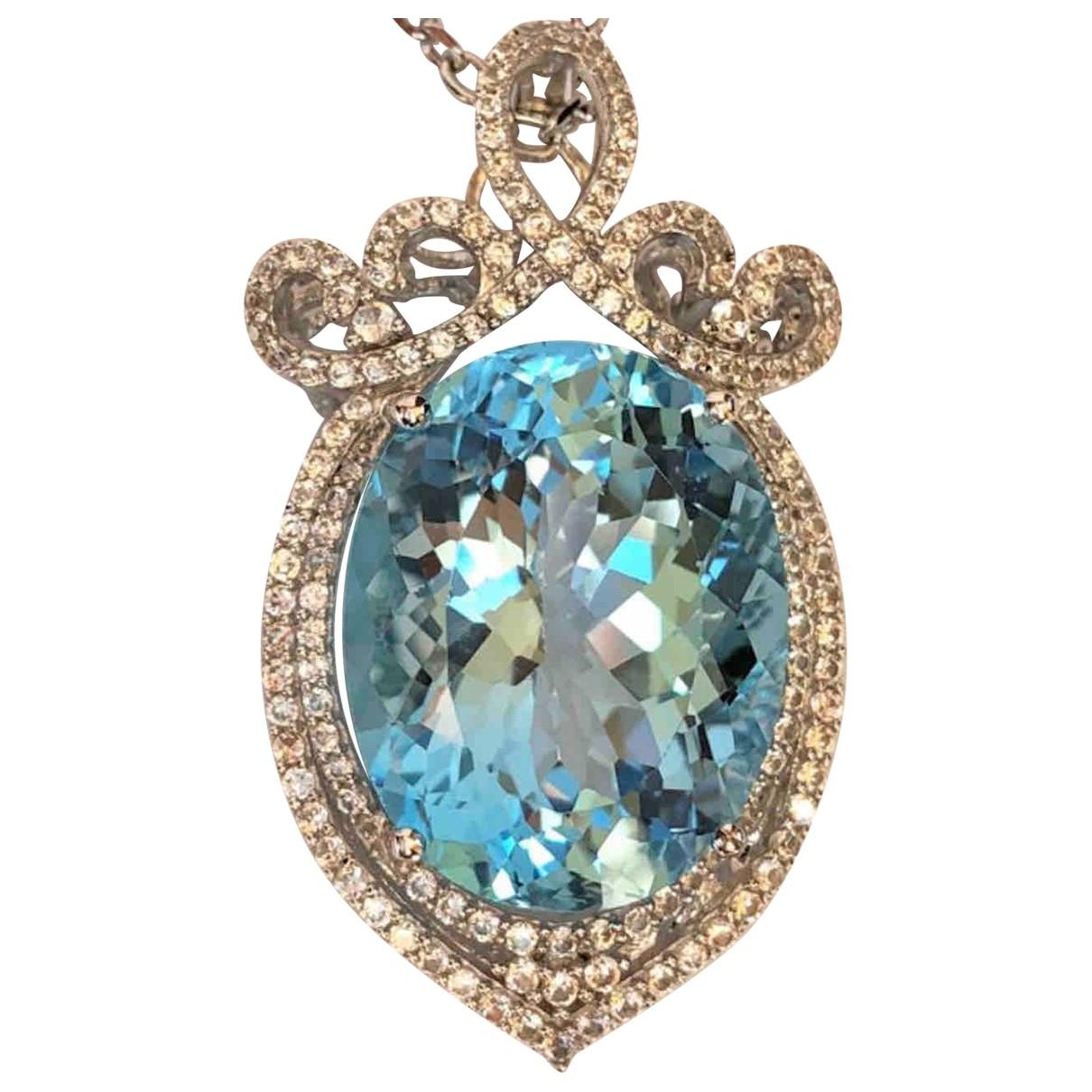 Orianne - Pendentif   pour femme en argent - bleu