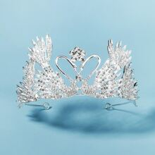 Rhinestone Decor Crown Design Hair Hoop