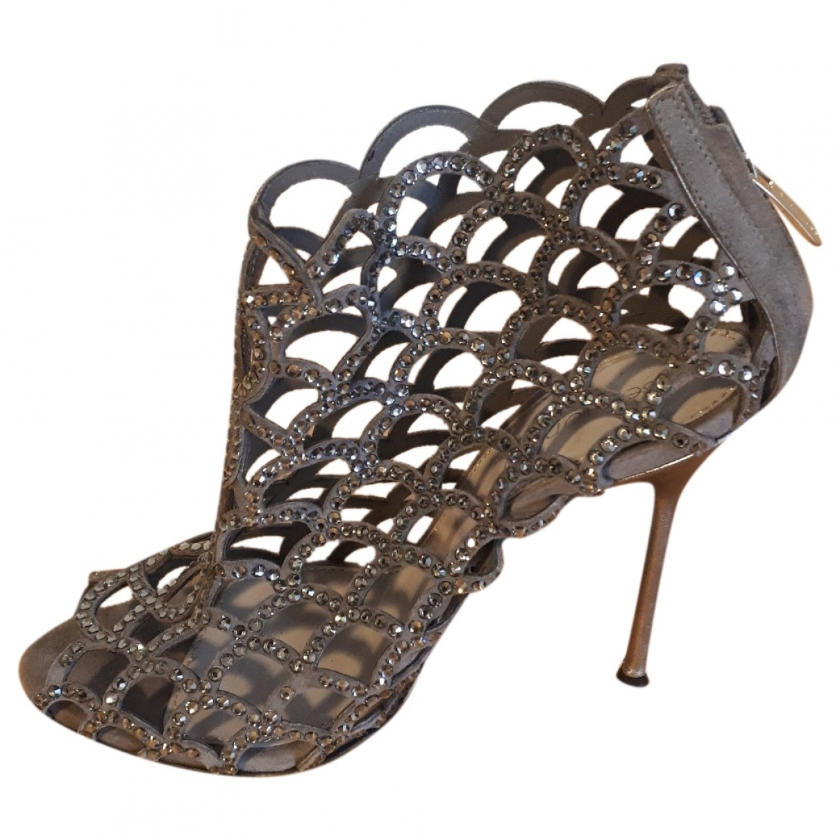 Sergio Rossi \N Grey Glitter Sandals for Women 39 EU