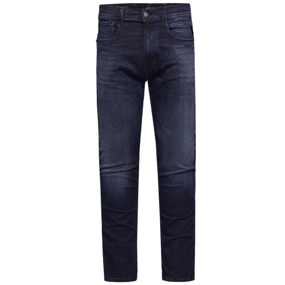 Replay Hyperflex Cloud Jeans Navy Colour: NAVY, Size: 34 32