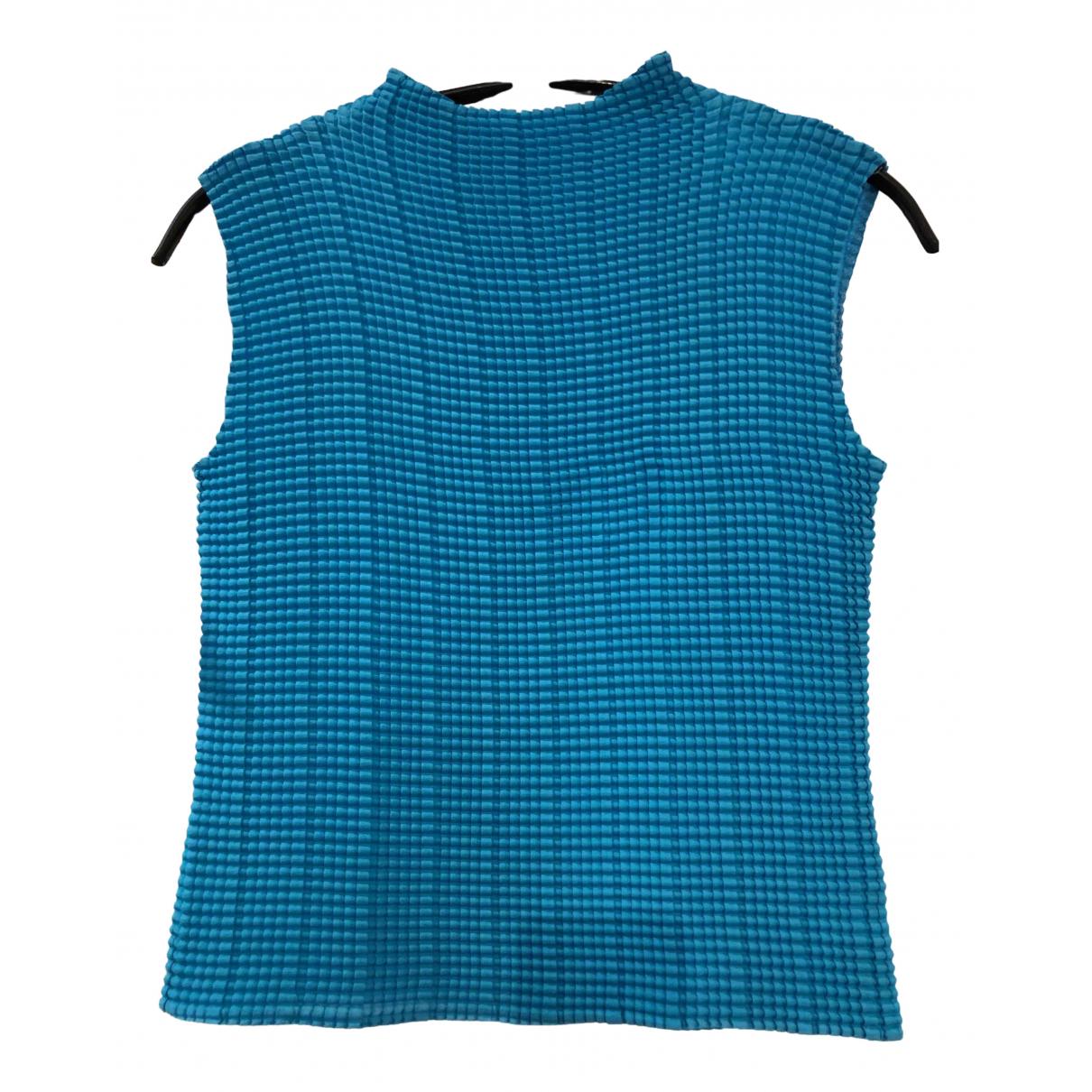 - Top Epaulettes pour femme - bleu