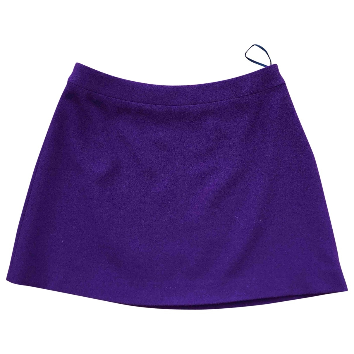 Miu Miu \N Purple Wool skirt for Women 42 IT