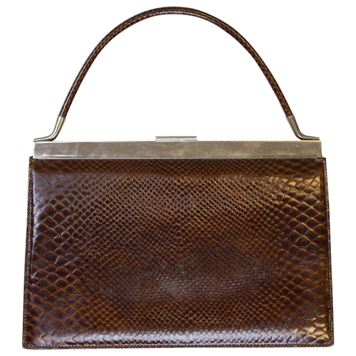 Non Signe / Unsigned \N Handtasche in  Braun Echse