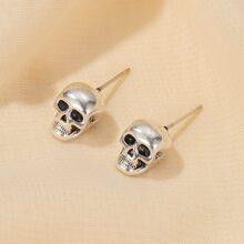 Skull Shaped Stud Earrings