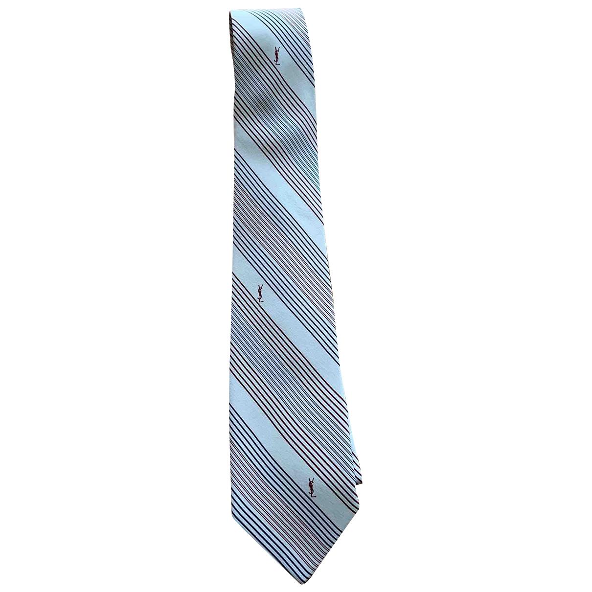 Yves Saint Laurent - Cravates   pour homme en soie - ecru