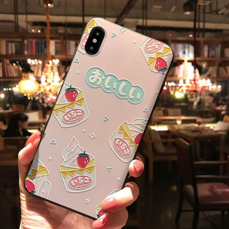 Applicable Embossed Phone Case Cartoon Soft Shell Protective Cover
