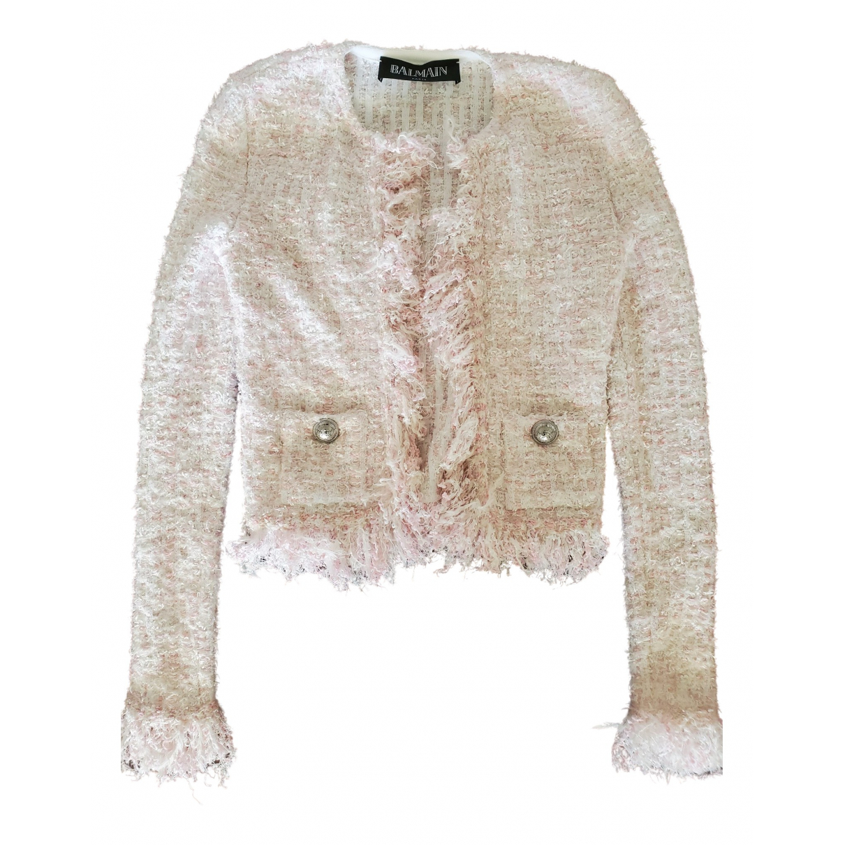 Balmain \N Jacke in  Rosa Tweed