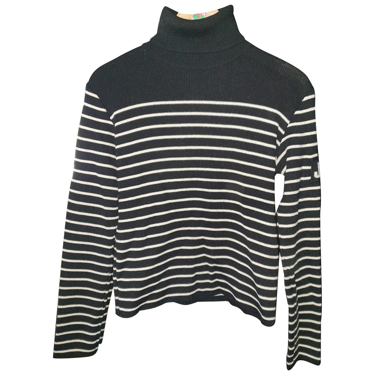 Jean Paul Gaultier \N Pullover in  Blau Wolle