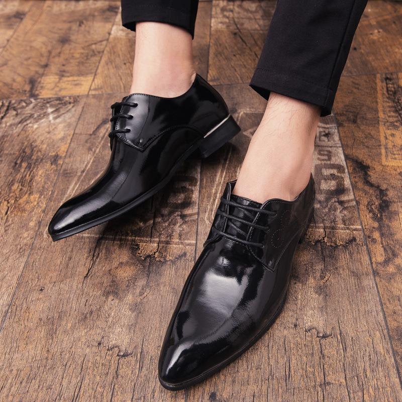 Ericdress Plain Round Toe Lace-Up Men's Dress Shoes