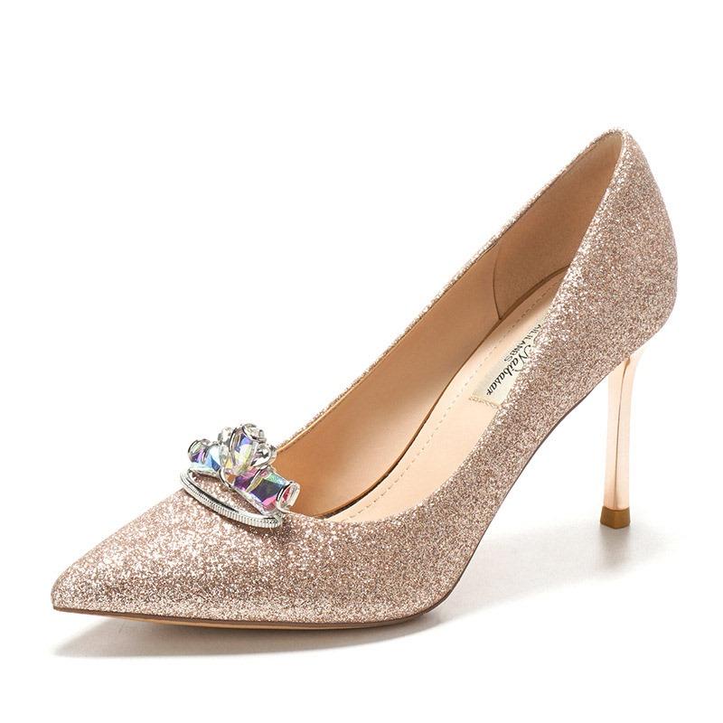 Ericdress Slip-On Pointed Toe Rhinestone Wedding Prom Shoes