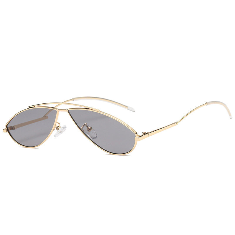 Lady's Alloy Curved Leg High Definition View Sunglasses Outdoor Leisure Fashion UV-400 Eye Glasses