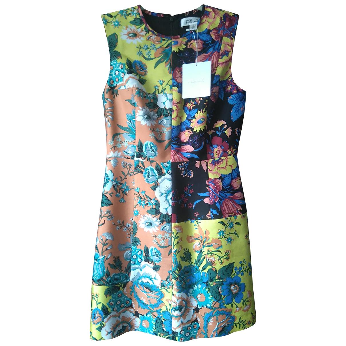 Diane Von Furstenberg - Robe   pour femme en laine - multicolore