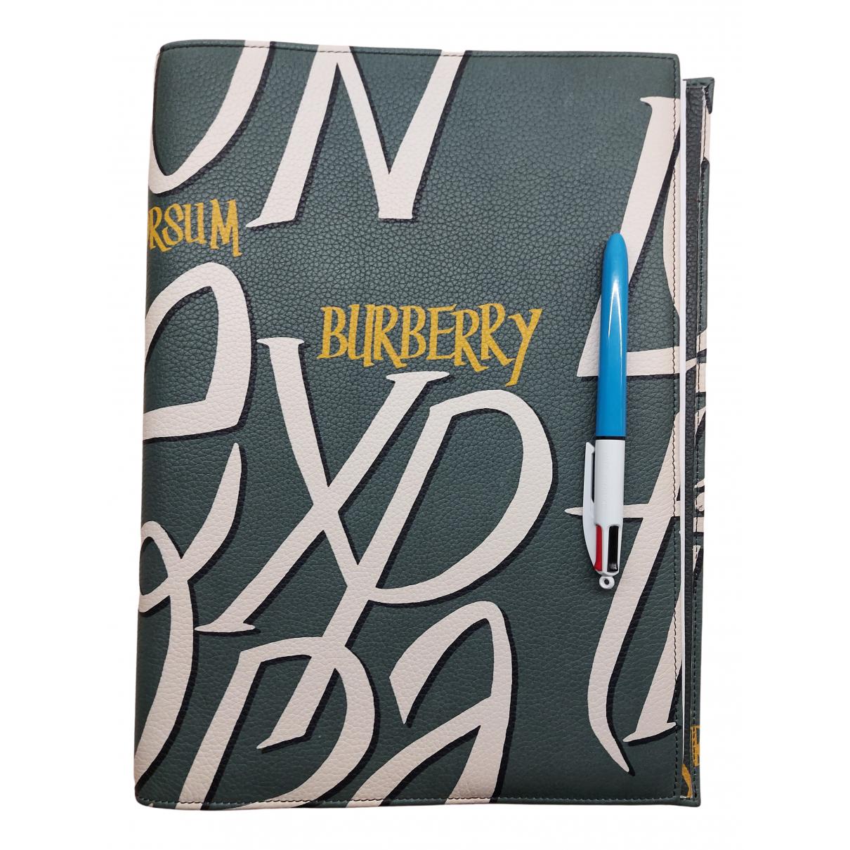 Burberry - Objets & Deco   pour lifestyle en cuir - vert