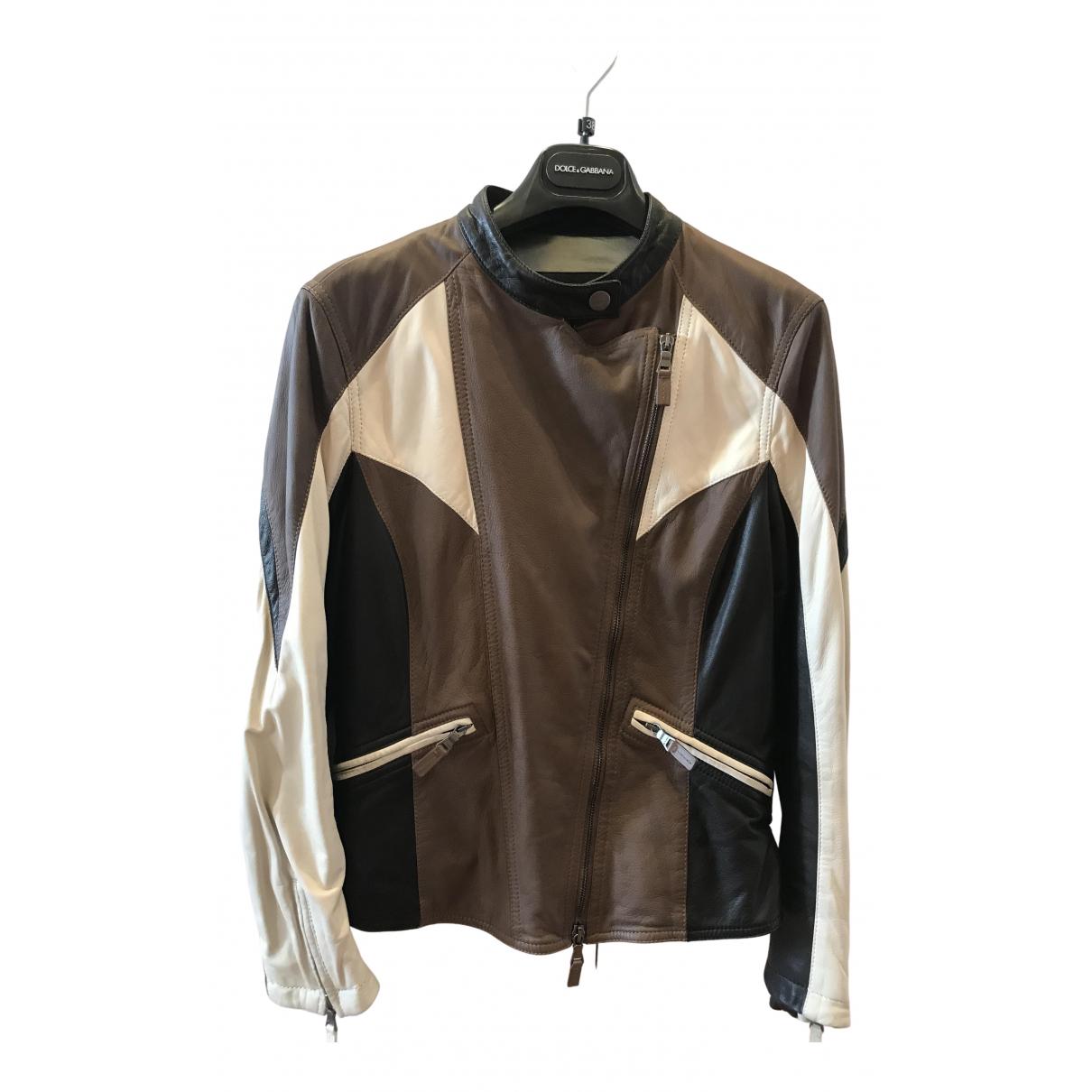 Etro - Blouson   pour femme en cuir - marron