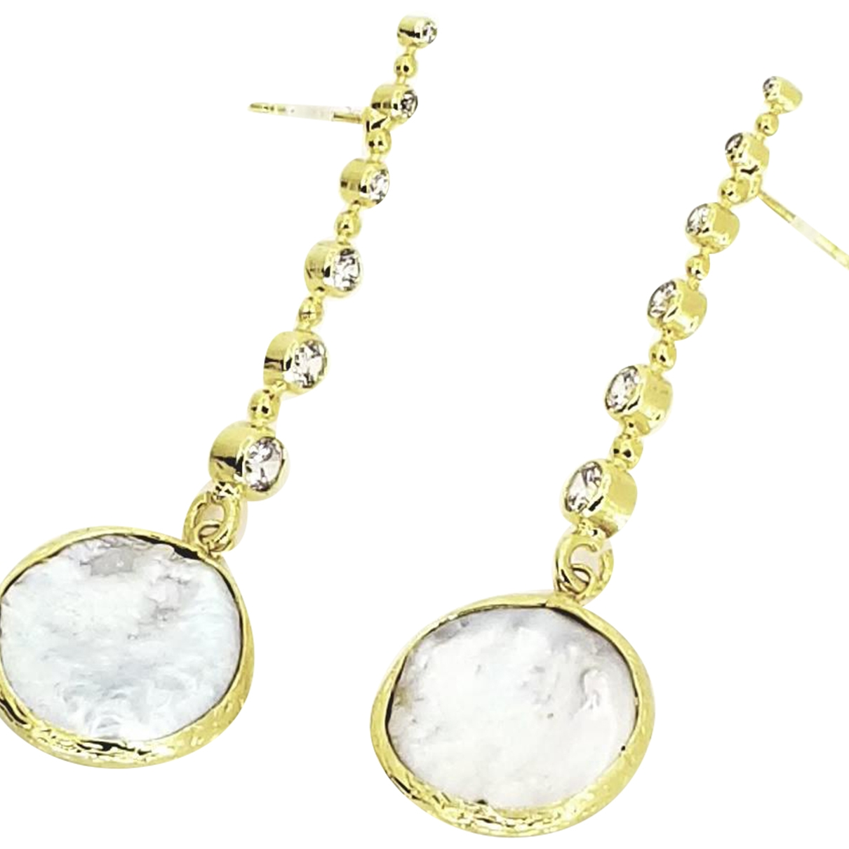 Non Signé / Unsigned \N Gold plated Earrings for Women \N