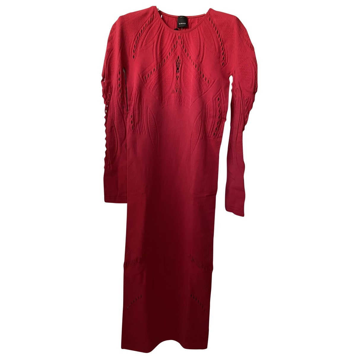 Pinko \N Red Cotton - elasthane dress for Women S International