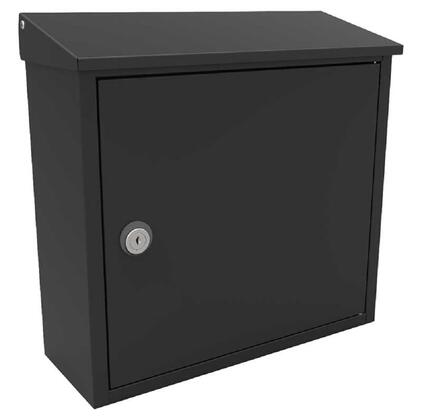 ALX-400-BLK Allux 400 Top Loading Wall Mount Locking Mailbox in
