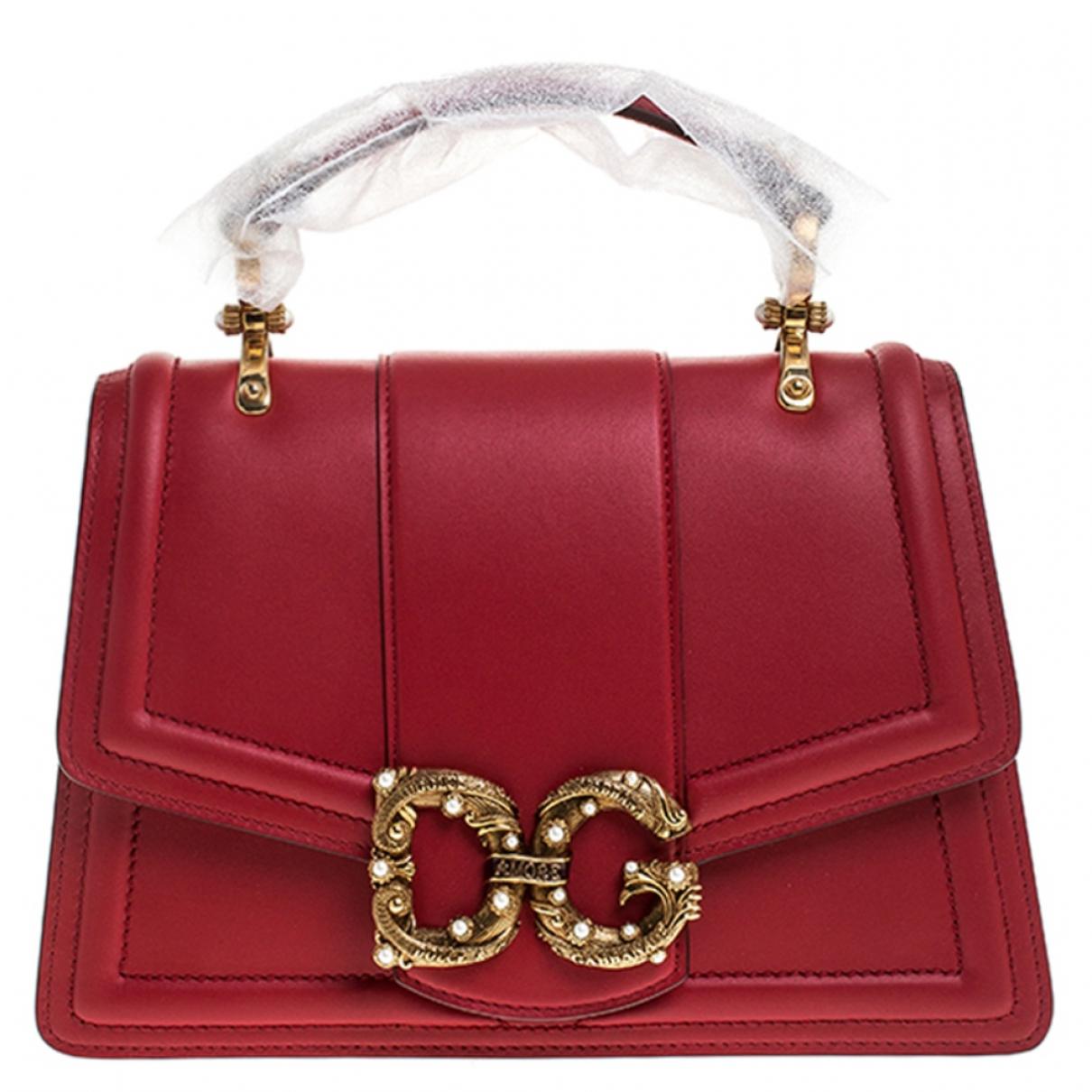 Dolce & Gabbana DG Amore Red Leather handbag for Women \N