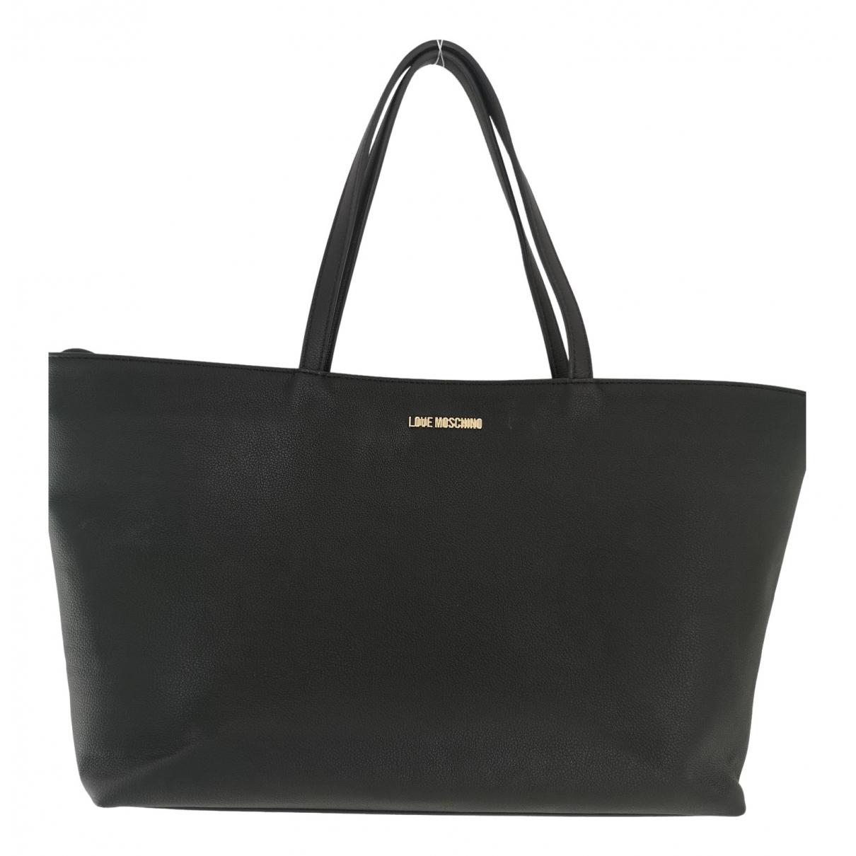 Moschino Love - Sac de voyage   pour femme en cuir - noir