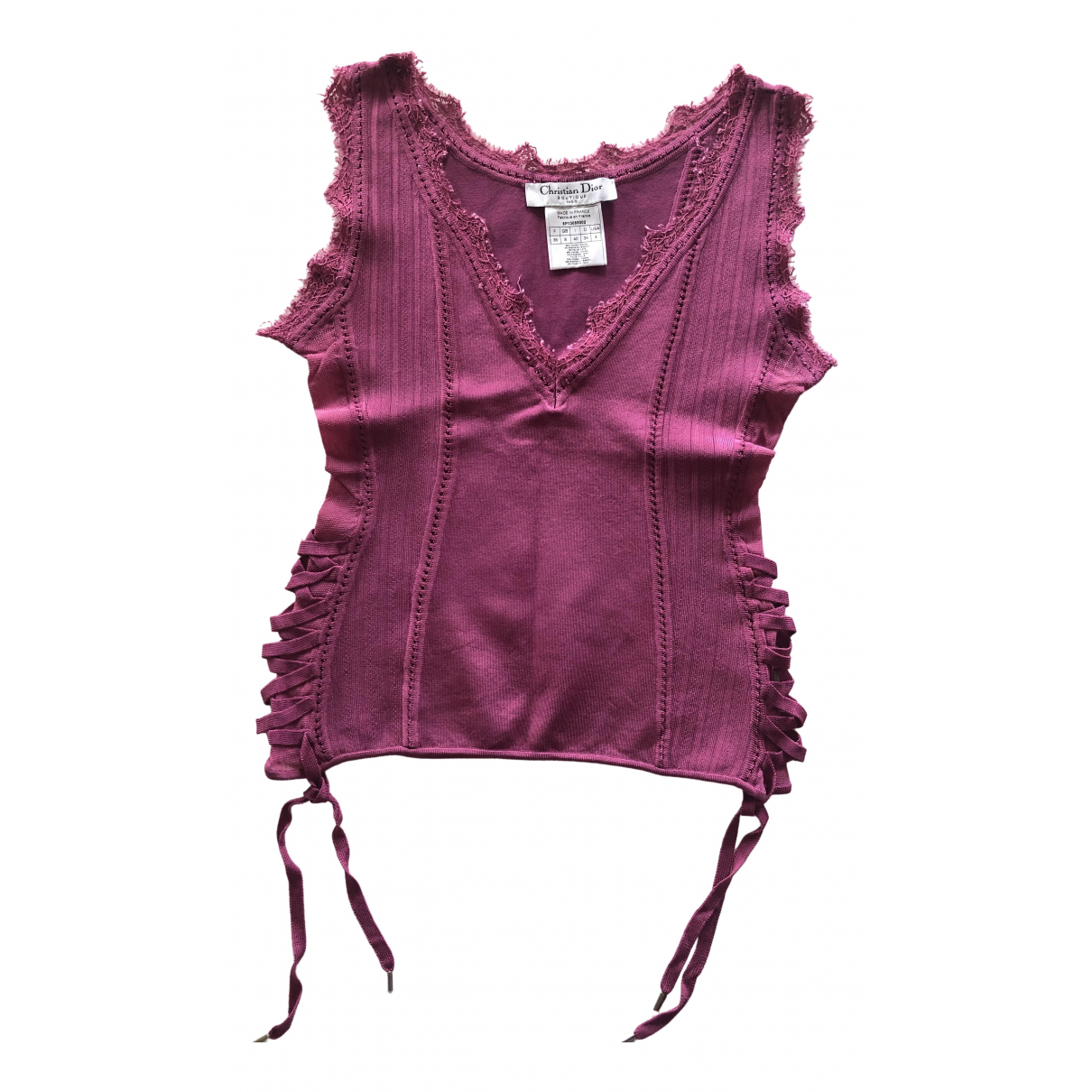 Dior \N Pink  top for Women 36 FR