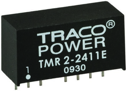 TRACOPOWER TMR 2E 2W Isolated DC-DC Converter Through Hole, Voltage in 36 → 75 V dc, Voltage out 12V dc