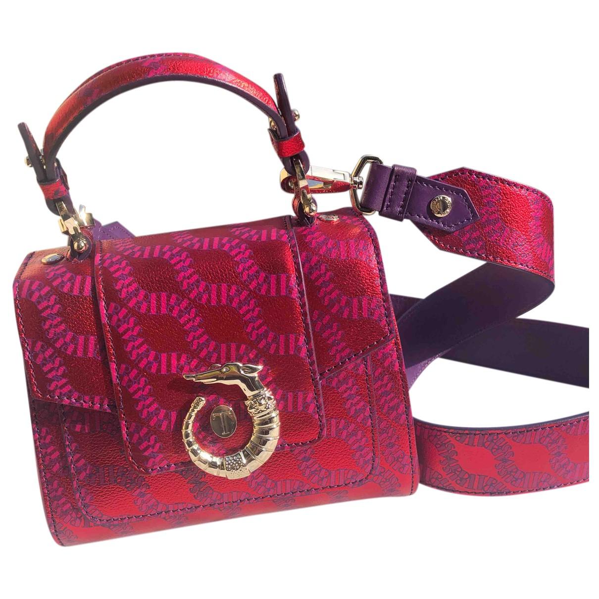Trussardi \N Handtasche in  Rot Leder