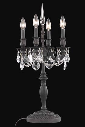 9204TL12DB/SA 9204 Rosalia Collection Table Lamp D12in H26in Lt: 4 Dark Bronze Finish (Swarovski Spectra