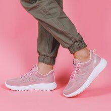 Lace-up Front Wide Fit Knit Sneakers