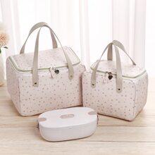 2 Stuecke Essentasche mit Schneeflocke Muster