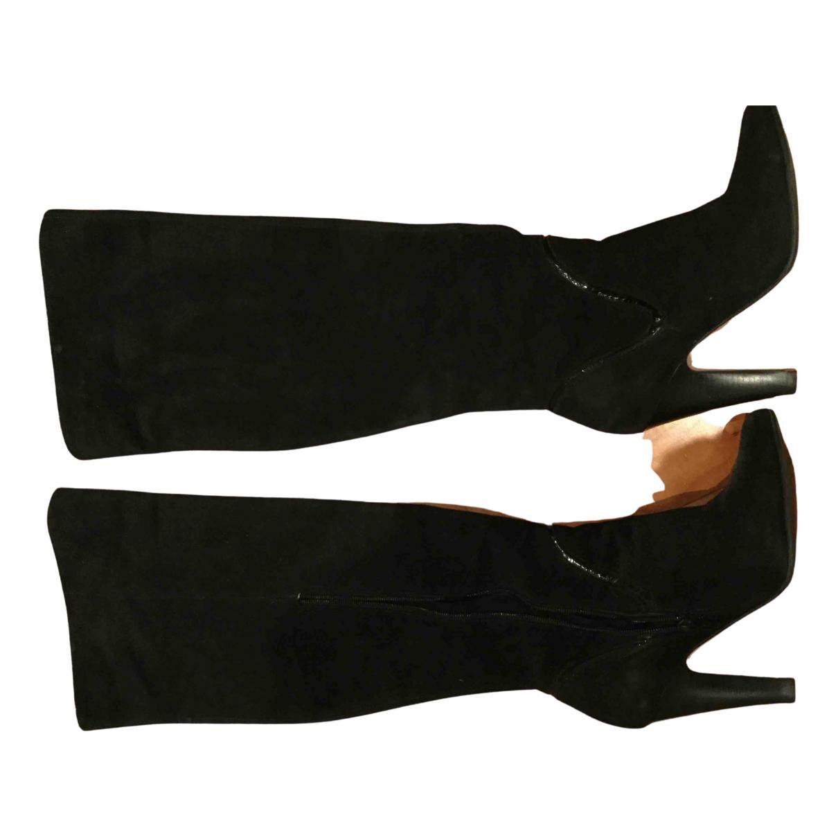 Buffalo \N Stiefel in  Schwarz Veloursleder