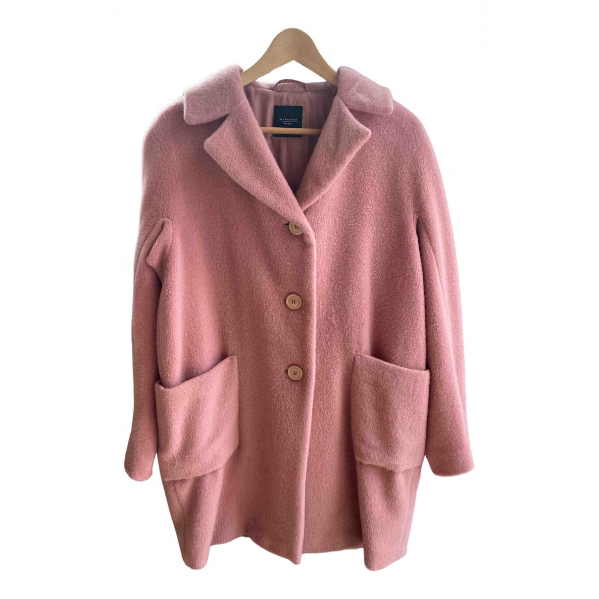Max Mara Weekend \N Pink Wool coat for Women 40 IT