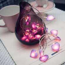 1pc 1.5m String Light With 10pcs Heart Shaped Bulb
