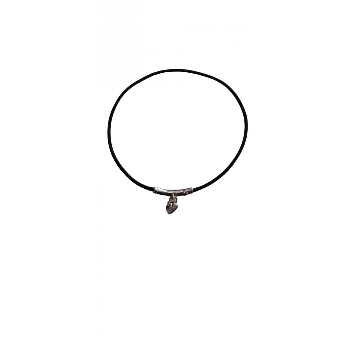 Hermès \N Black Leather necklace for Women \N