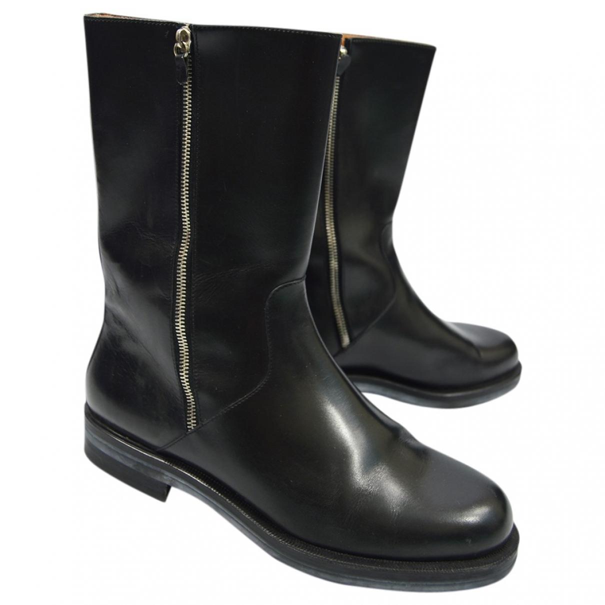 Salvatore Ferragamo \N Black Leather Boots for Men 42.5 EU