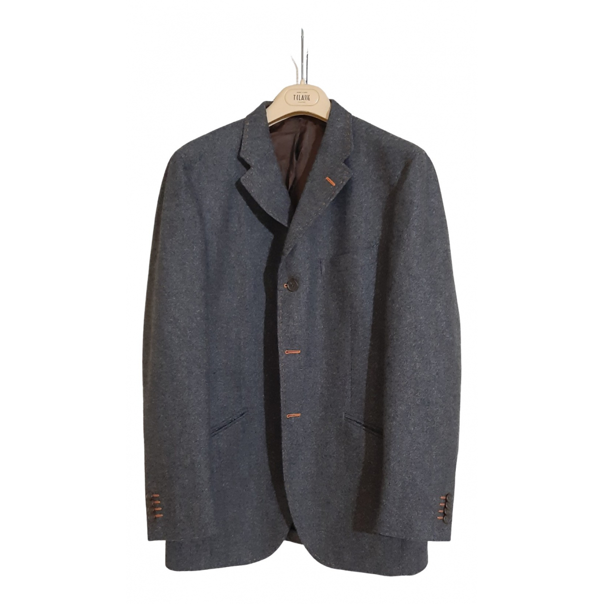 Etro \N Grey Wool jacket  for Men 52 IT