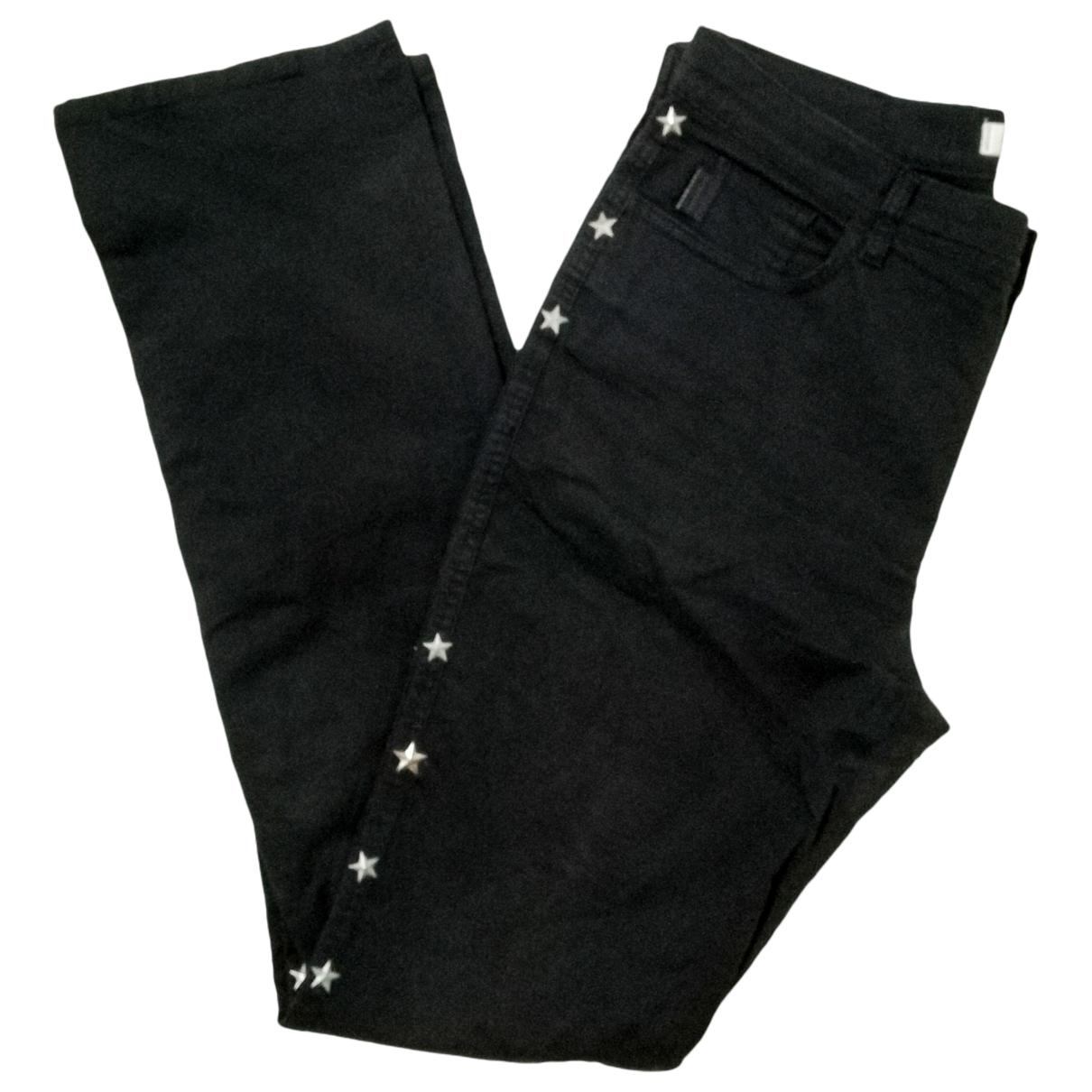 Pantalon en Algodon Negro Moschino Love