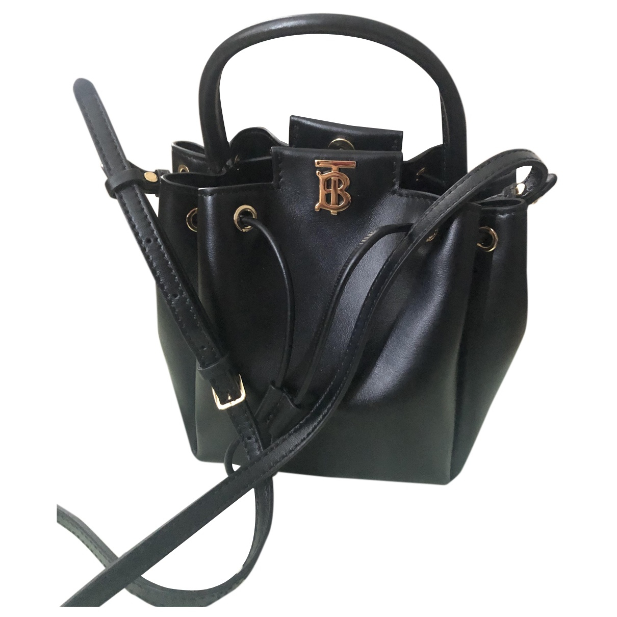 Burberry The Bucket Black Leather handbag for Women N