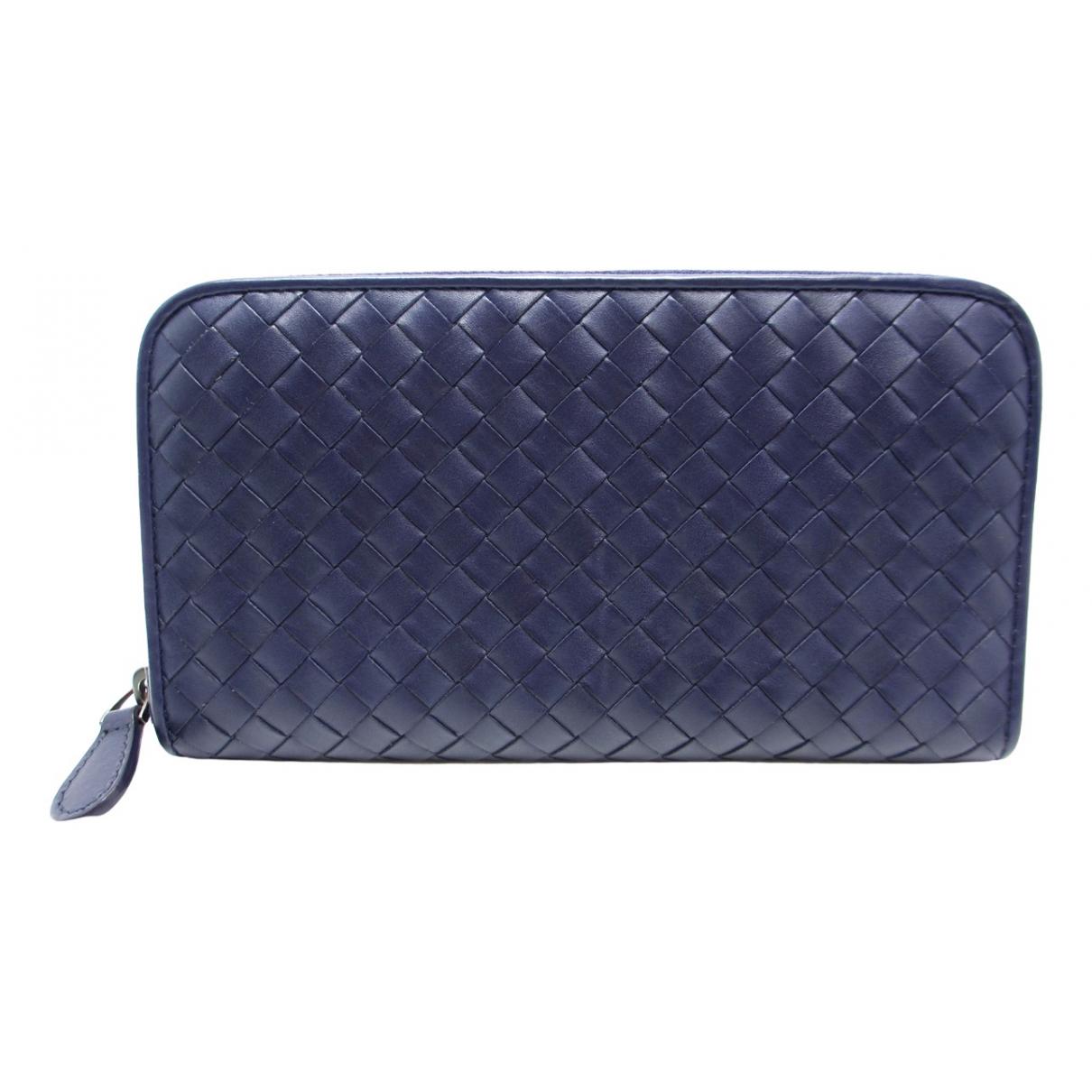 Bottega Veneta - Portefeuille Intrecciato pour femme en cuir - violet