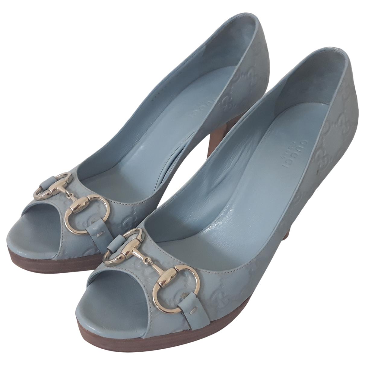 Gucci - Escarpins   pour femme en cuir - bleu