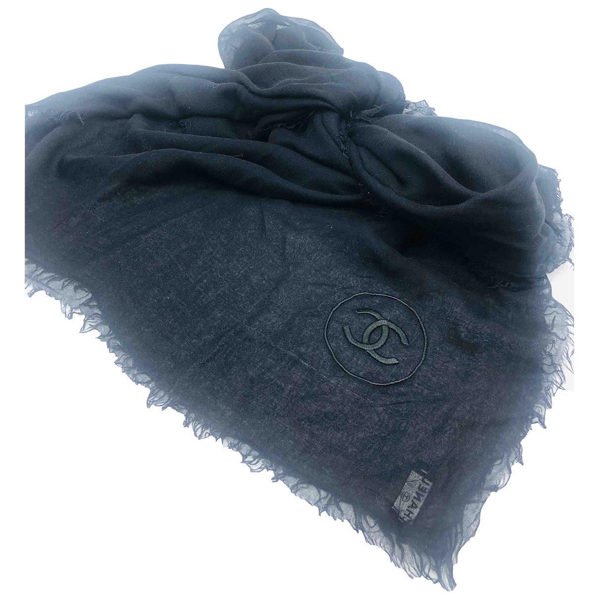Chanel N Black Silk scarf for Women N