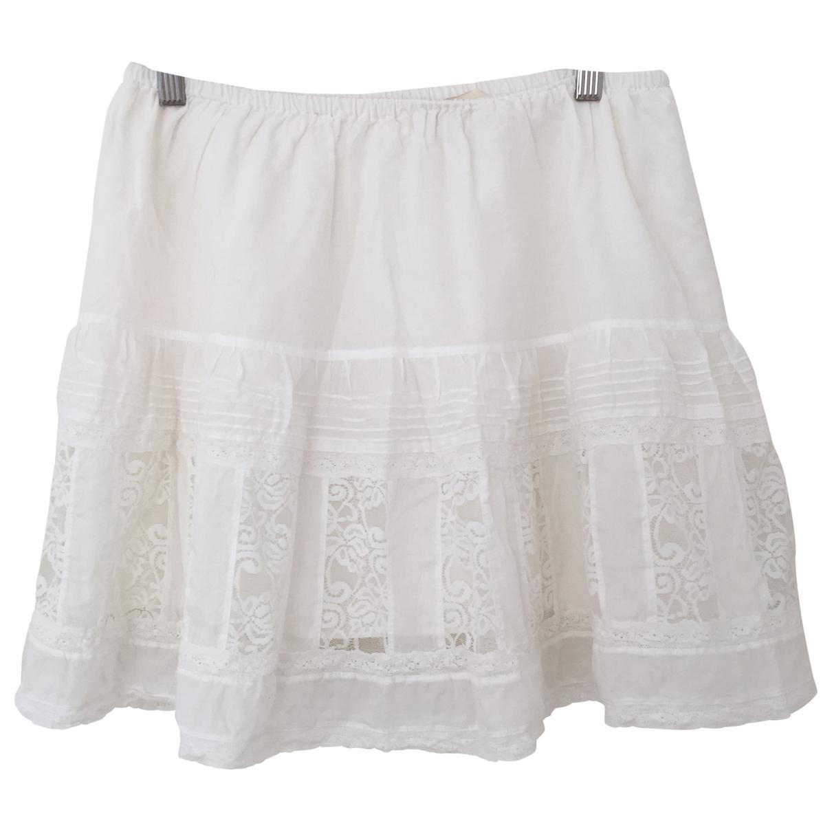 The Great - Jupe   pour femme en coton - blanc