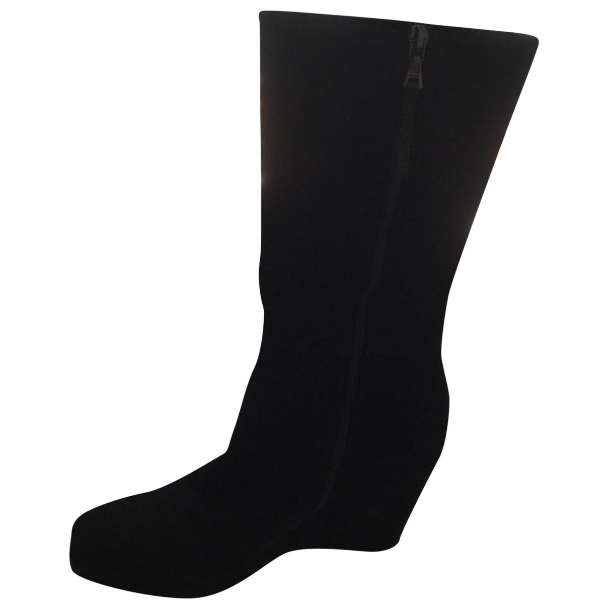 Prada - Bottes   pour femme en suede - noir