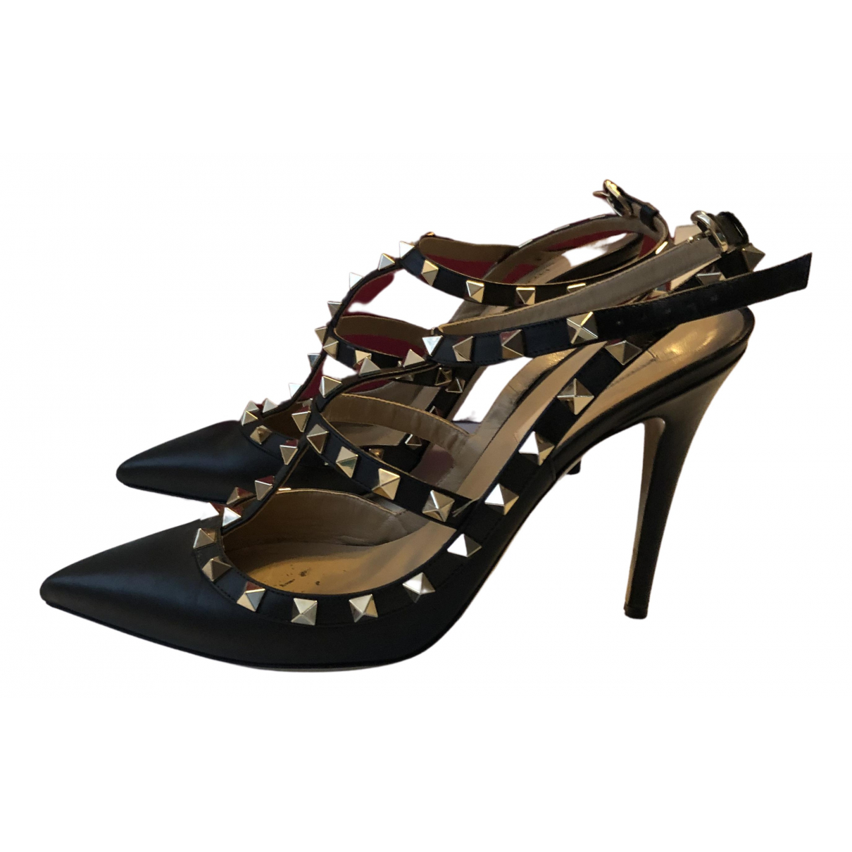 Valentino Garavani - Sandales   pour femme en cuir - noir