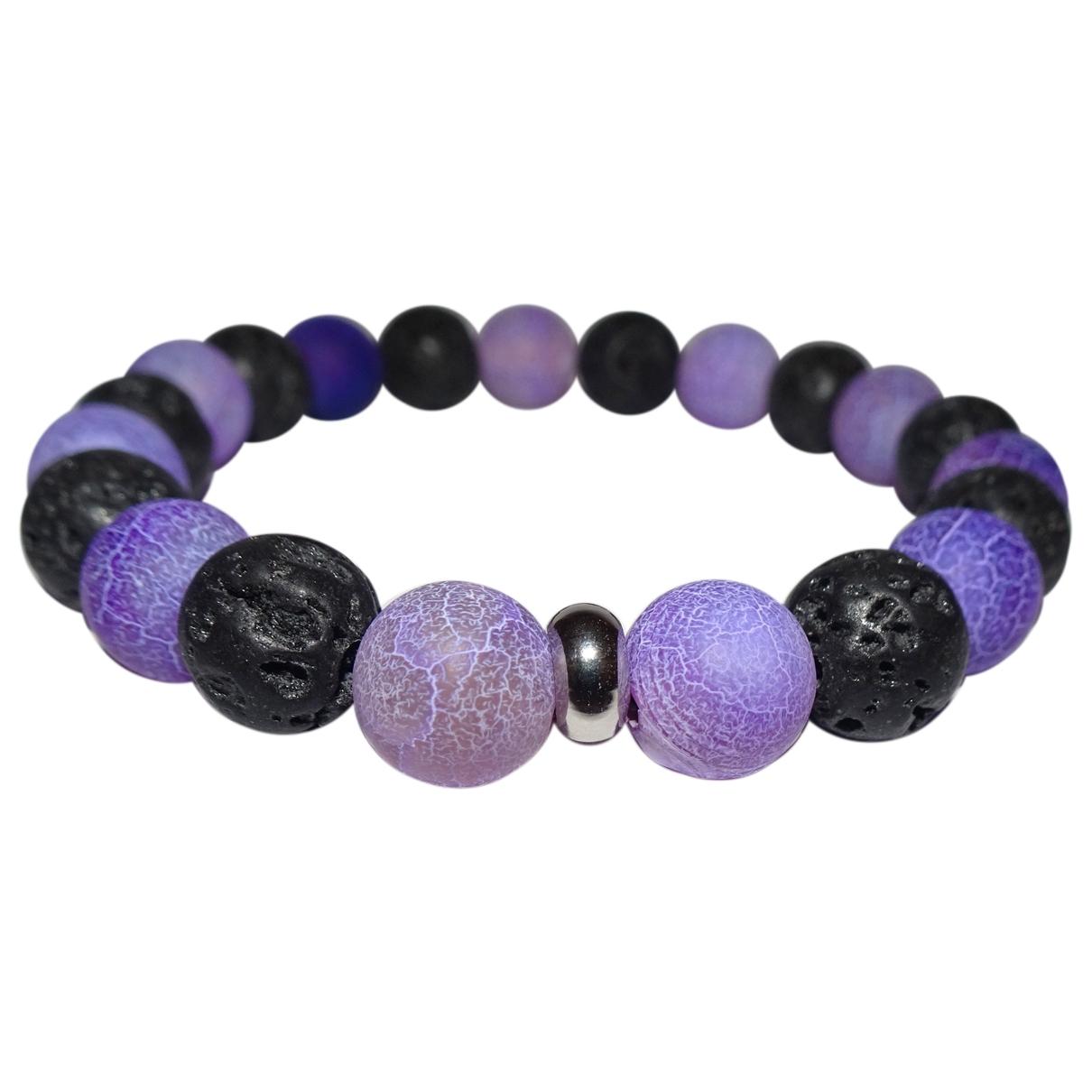 - Bracelet   pour femme en perles - violet