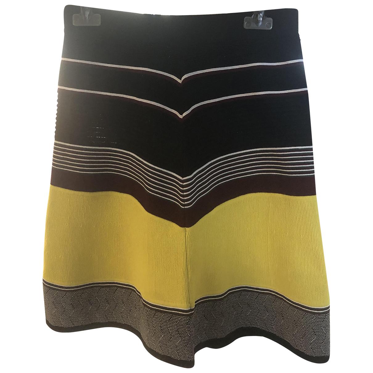 Maison Scotch - Jupe   pour femme en coton - elasthane - jaune