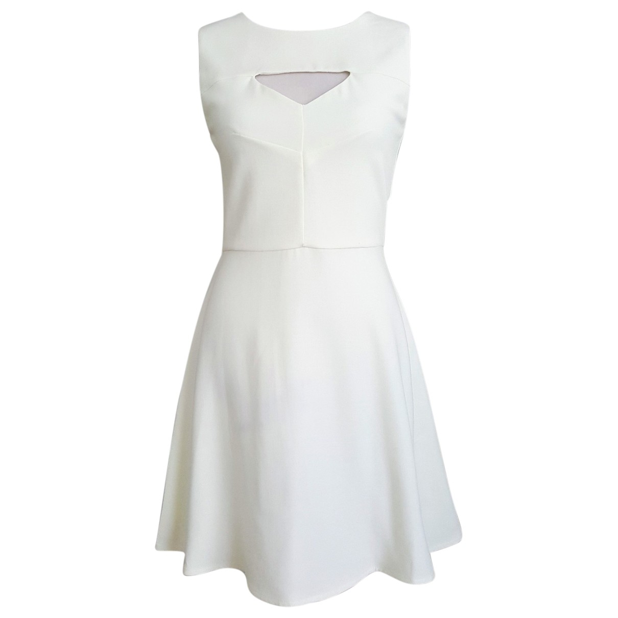 French Connection \N Kleid in  Weiss Polyester