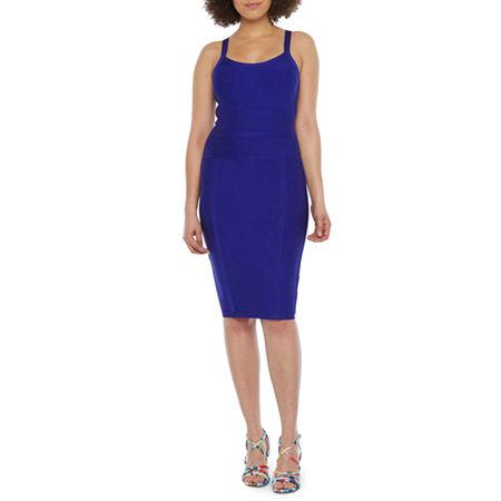 Bold Elements Sleeveless Bodycon Dress, Large , Purple