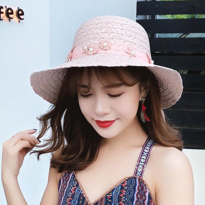 Ericdress Pearl Flower Summer Hat