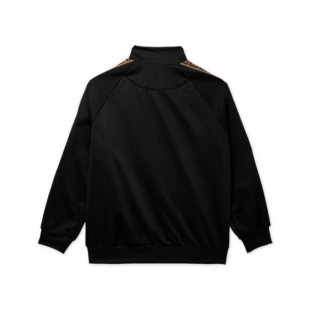 Fendi Tape Logo Sweatshirt Colour: BLACK, Size: 12 YEARS